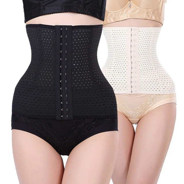 50010fdd5af women slimming Cheap body shaper Bustier belt fashion black Plus size  Shapewear 4 steel boned waist trainer corsets 3Rows hooks