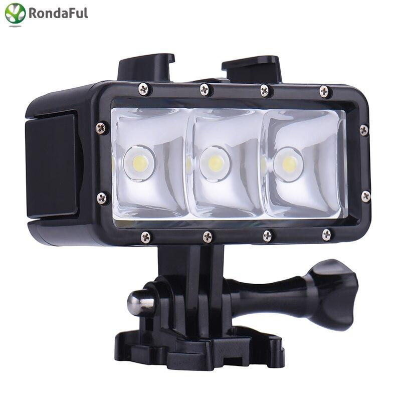 Sports Caméra Sous Vidéo Lumière Led Plongée Action Lumières 4 Lampe Pour Caméscope Étanche Marine 32 Gopro Hero nPk0wO