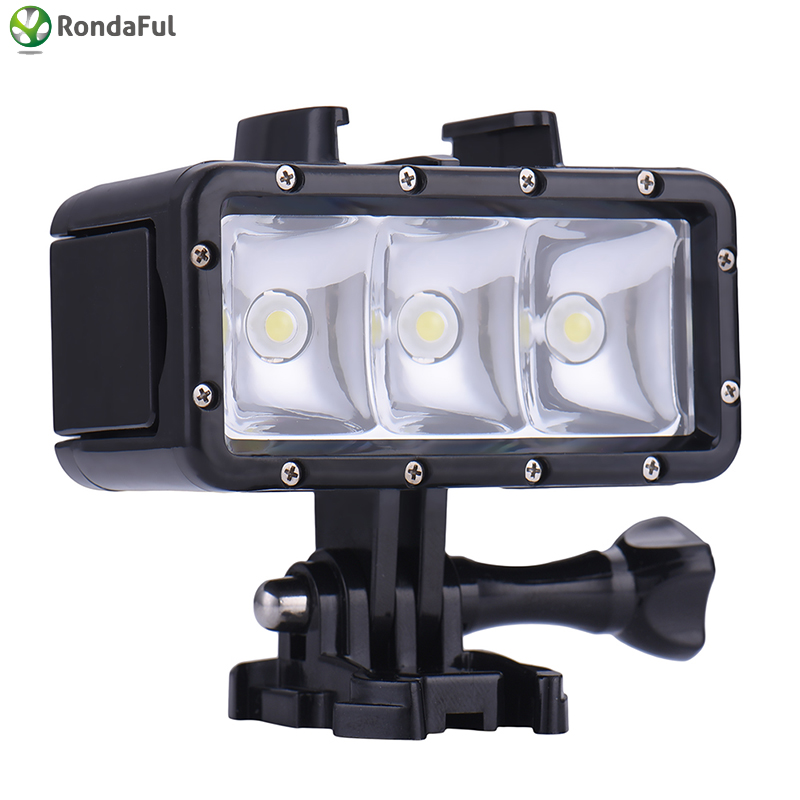 Camera Underwater Diving LED Lamp For Gopro Hero Action Sports Camcorder Video