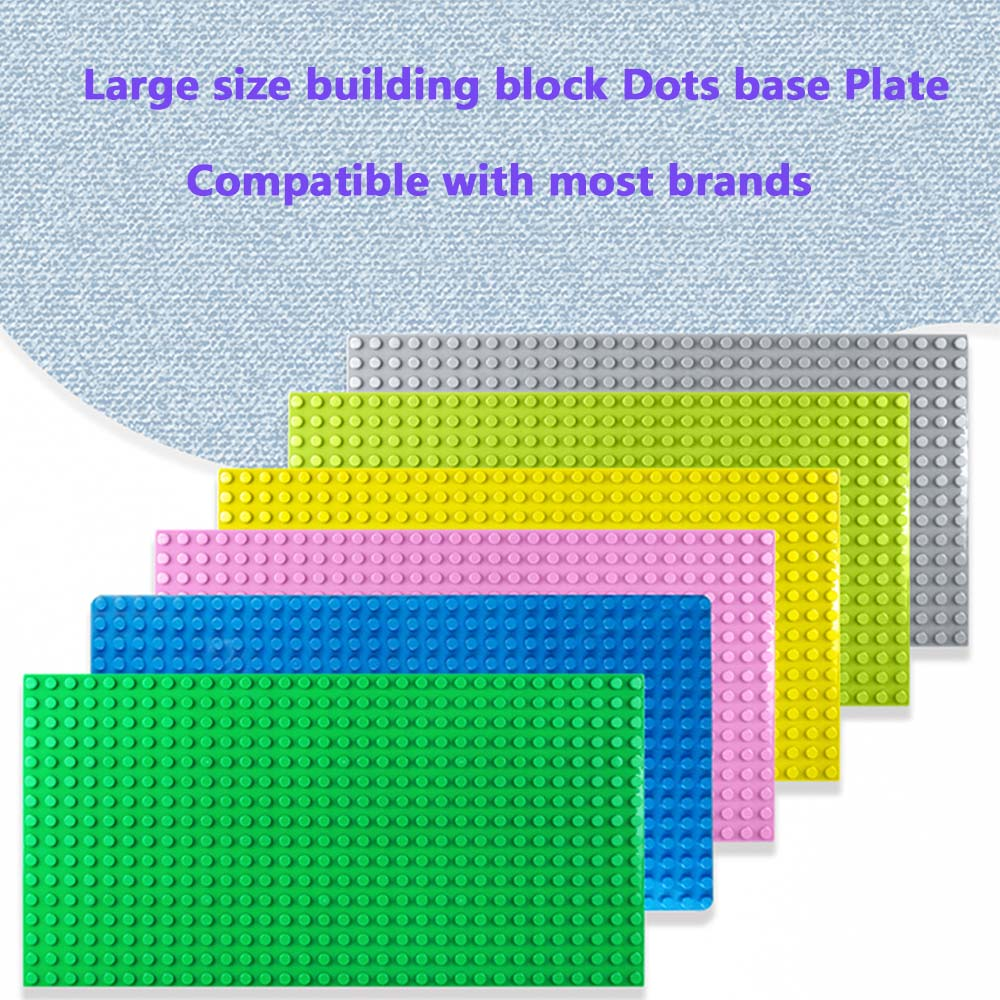 4 Color 3 kind size Classic Dots Base Plates Board Compatible Legoing Duplos Building Blocks Construction Toys For Children