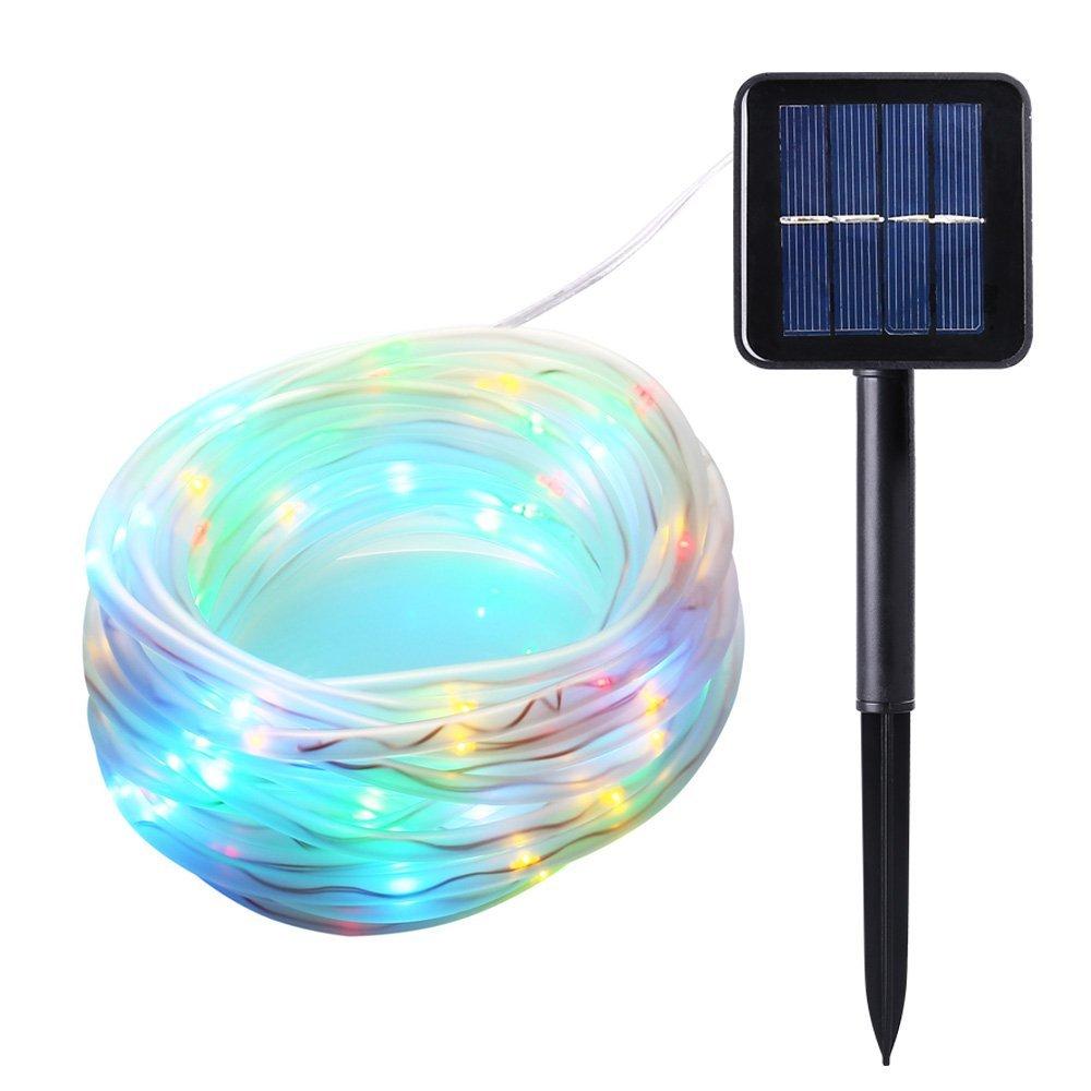 solar string lights 33ft 100 led outdoor lighting solar. Black Bedroom Furniture Sets. Home Design Ideas