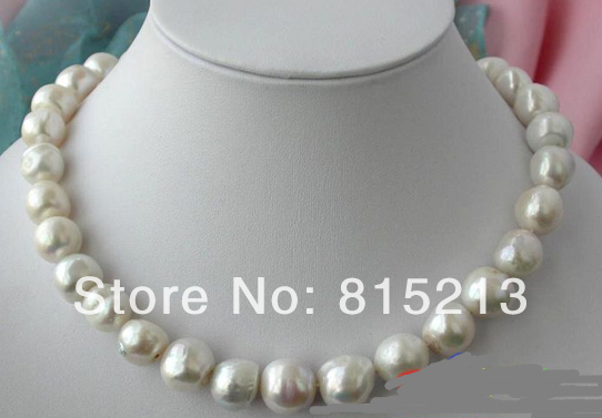 N1342 BLANC BAROQUE FW PERLE de CULTURE COLLIER WOW 28% Remise NEW