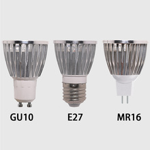 цена на GU10 E27 MR16 lampada led 5W Spot Light Bulb AC85-265V spotlight Warm White/Cold White