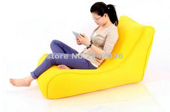 Yellow large bean bag cover flush furniture beanbag chair, reading bean bag waterproof cover red bean bag cover l back support shape waterproof beanbag chair
