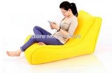 Yellow large bean bag cover flush furniture beanbag chair, reading bean bag waterproof cover