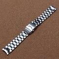 18 мм 20 мм 22 мм 24 мм Ремешок Для Часов Из Нержавеющей Стали Металлические браслеты для Часов, Загнутым концом Часы безопасности развертывания пряжка для замены новый