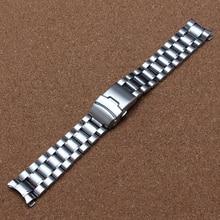 18mm 20mm 22mm 24mm Bracelet En Acier Inoxydable bracelets de Montre En Métal Courbe fin Montres sécurité boucle déployante pour le remplacement nouveau