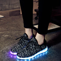 Size 26-46 New Basket Children Shoes With Led Light Girls&Boys Breathable Led Glowing Luminous Sneakers Kid Shoes Led Slipper