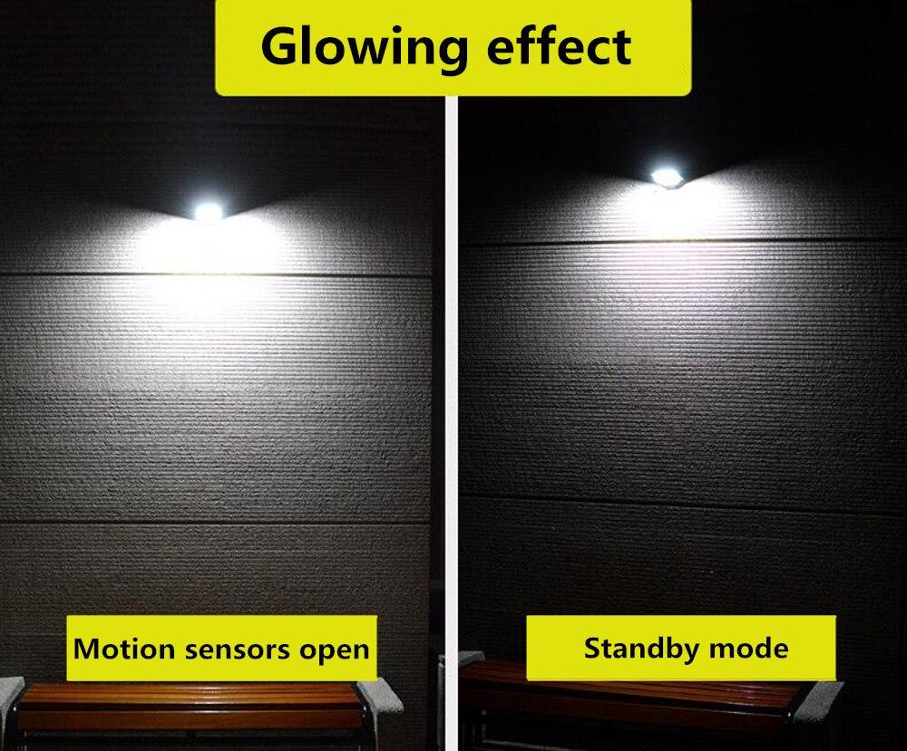 Sensor De Movimento De Emergência Solar Lâmpada de Parede 3.7 V