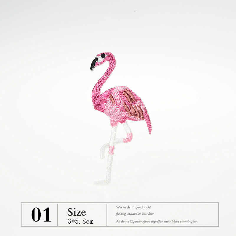Flamingo Leone Panda Elefante Animale di Ferro su Toppe e Stemmi per Vestiti Del Fumetto Del Ricamo Appliques Cane di Animale Domestico Del Gatto Distintivi e Simboli per I Vestiti