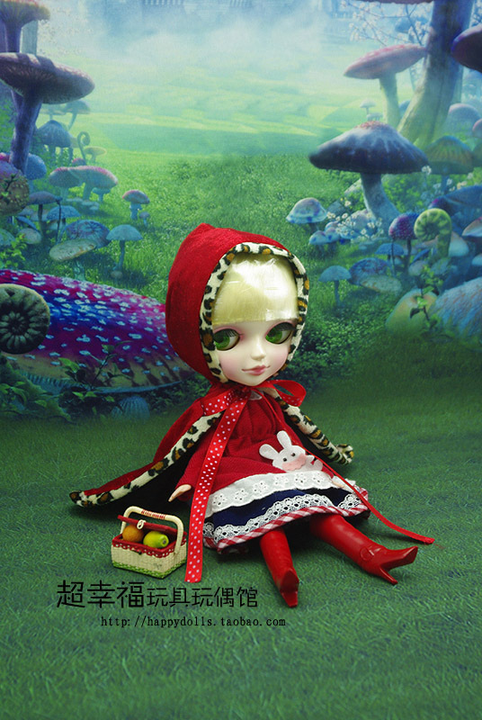 Free shipping 9inch Super cute TANGKOU doll Big Head and big eyes Little Red Riding Hood doll Can makeup Toys for girls 13 inches backpackers tangkou doll cute big eyes bjd doll can makeup diy toy for girls collectibles