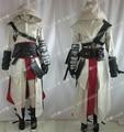 Hot Anime personalizado de alta qualidade Assassins Creed II 2 Ezio traje branco uniforme qualquer tamanho frete grátis