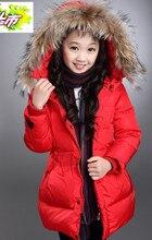 2016 новых зимнее пальто Корейские девушки детская одежда Дети толстый стеганый пуховик и длинные участки дополняется