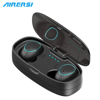 HTK18 Invisible Wireless Bluetooth Earphone Sports Headphones 3D Stereo Hands Free Mini Bluetooth Headset With Power