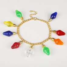 Wholesale Accessories Jewlery TV Stranger Things Bracelets for Women Charms Pendents Colorful light bulb Bangles Bracelet