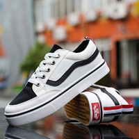 Fashion Leisure Flat   Vulcanize     Shoes   for Men Mixed Colors Sewing Lace-up Canvas   Shoes   Summer Casual Boys Students Sneakers