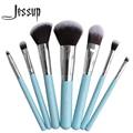 Jessup Brand Blue 7pcs Professional Makeup brush set Beauty Cosmetic Kit Eyeshadow Foundation blusher Make up brushes Tools
