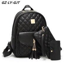 GZ-LY-GJT Марка искусственная кожа Back Pack конструировал Обувь для девочек Рюкзаки для Для женщин Повседневное подросток Школьные сумки Сумка Кошелек