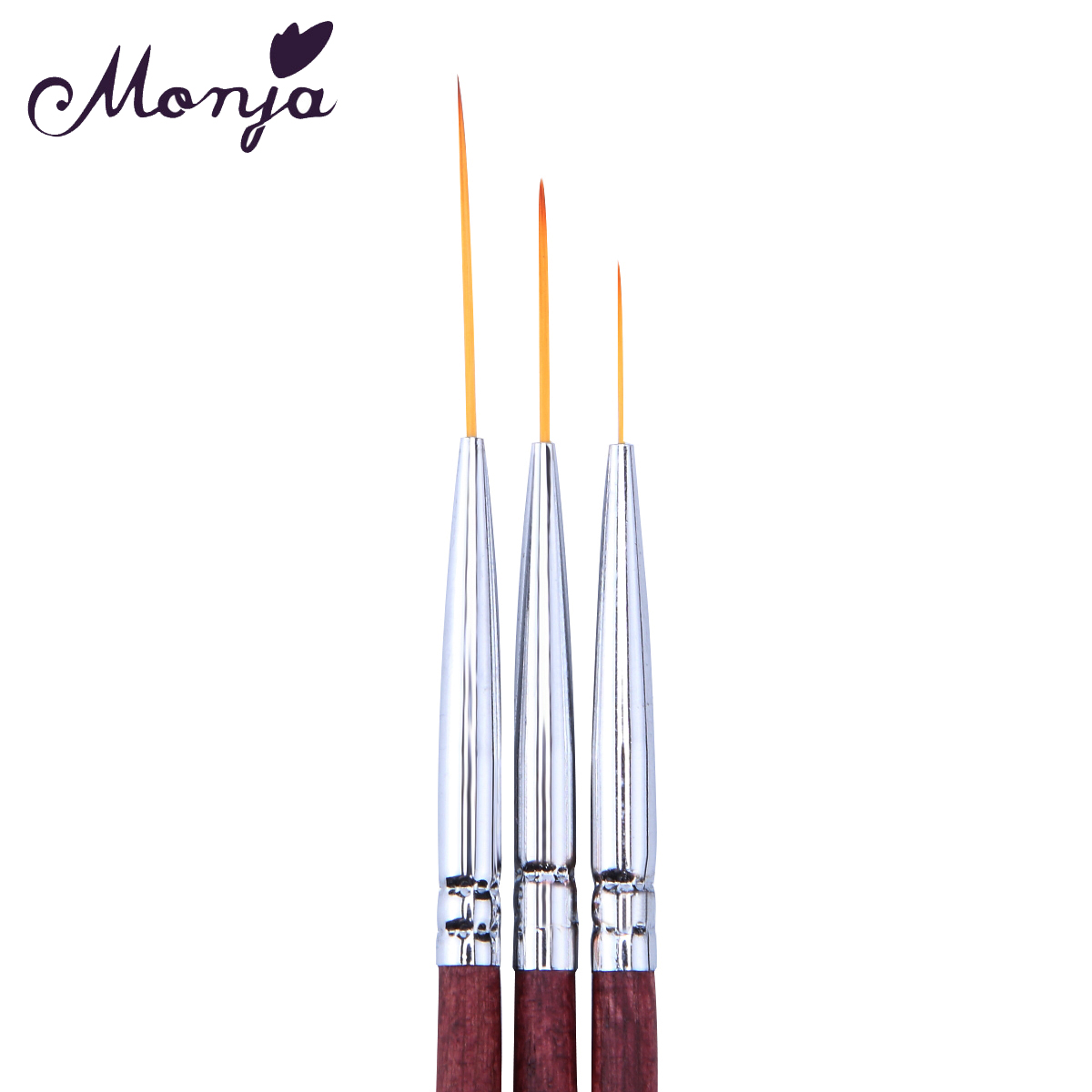 3 Size Nail Art Red Wood Line Slim Painting Brushes Set Gel Polish Tips 3d Flower Lines Image Drawing Building Pigment Pen Kit In From Beauty