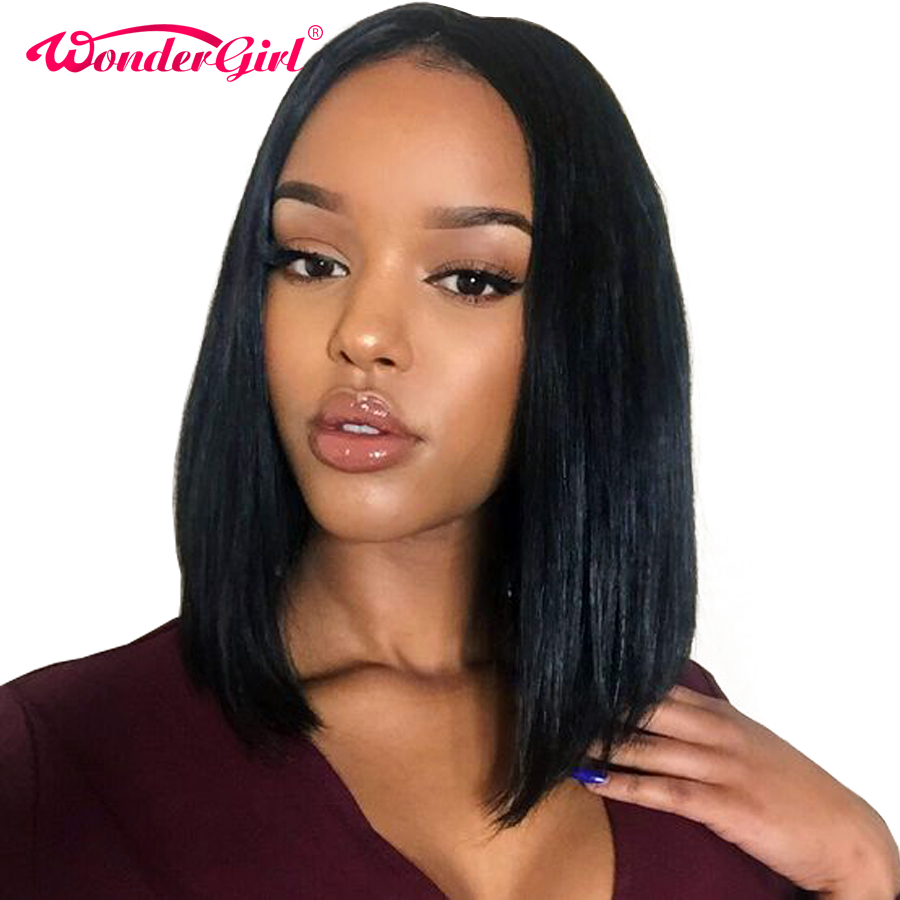 150% Density Short Human Hair Bob Wigs For Black Women 12x6 Peruvian Straight Lace Front Human Hair Wigs Wonder gilr...