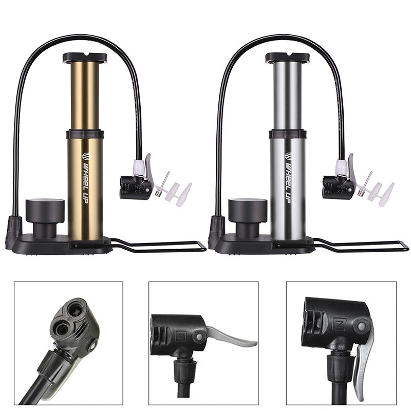 Portable Cycling Mountain Bike Bicycle Mini Air Pump Foot Pedals Pressing Tire Inflator With Manometer Lightweight