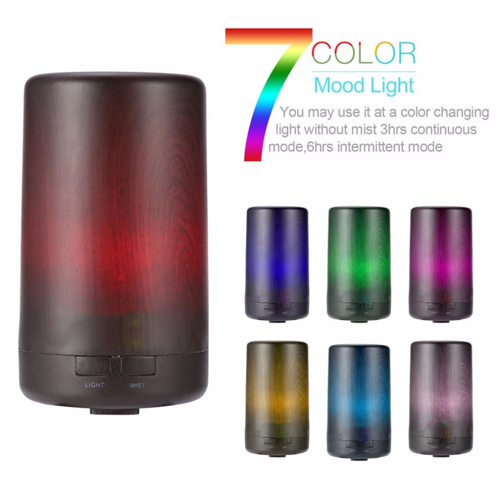 USB Fragrance Machine Electric Essential Oil Diffuser Automatic Air Freshener Ultrasonic Sprayer Machine With 7 Color LED Light