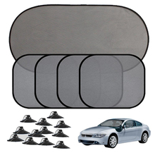 Curtain Car-Styling-Covers Protection Sun-Shade Auto-Window-Suction-Cup Mesh Black Motolovee