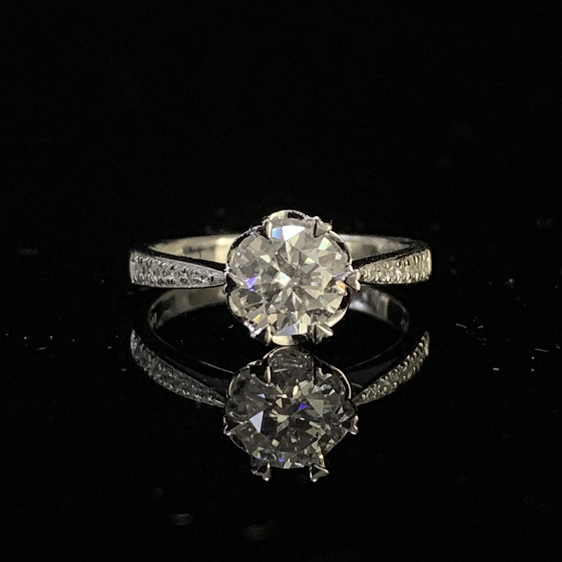 14K White Gold Moissanite Ring 1ct 2ct 3ct DF color Luxury Engagement Ring Wedding Anniversary Ring