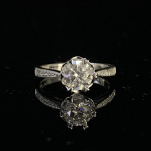 14K White Gold Ring 1ct 2ct 3ct Moissanite Single row drill Ring Luxury Diamond Ring Wedding Anniversary Ring