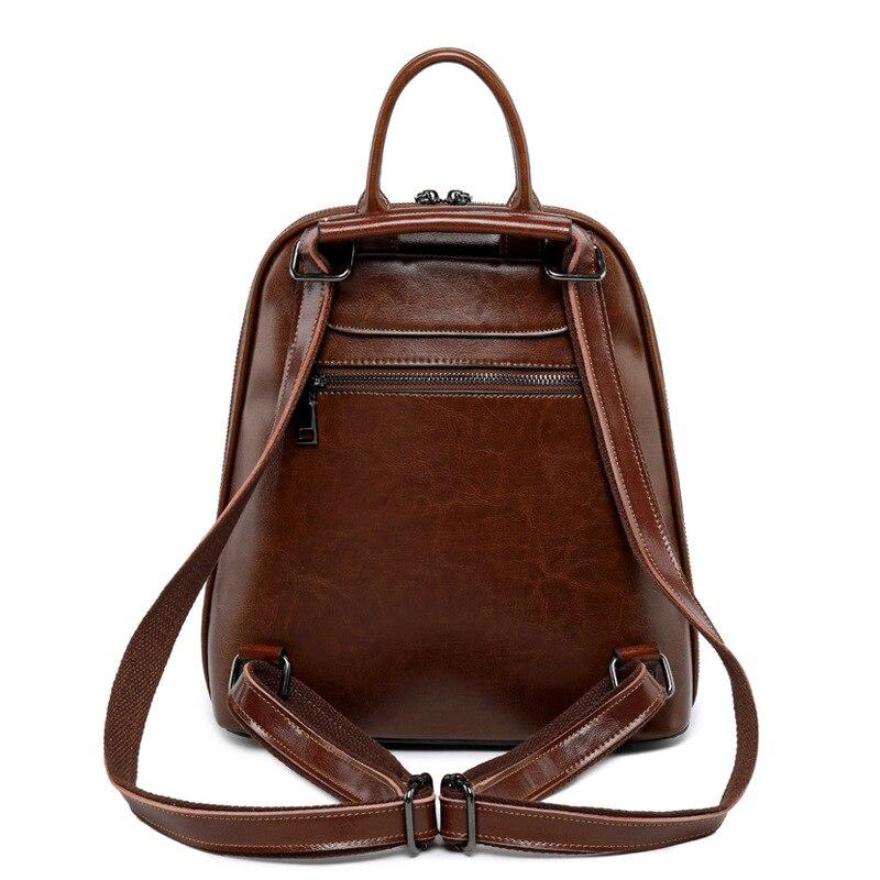 F FPY, Брендовые женские рюкзаки, винтажные женские рюкзаки с заклепками в виде буквы V, дорожная сумка на плечо, кожаный рюкзак для подростков, рюкзак школьный для ноутбука - 4