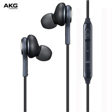 AKG In-Ear Earphones with Mic 3.5mm Wired In-line Earphones for Galaxy S8/S8+ Volume Control Hands-free Calls Sports Headphone(China)