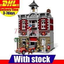 DHL Lepin 15004 2313Pcs City Creator Fire Brigade Model Building Kits Set Blocks Bricks Gift DIY Toys Compatible 10197