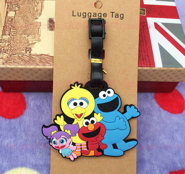 Tags-Holder Tag-Suitcase Luggage Sesame Street-Elmo Baggage-Labels Travel-Accessories