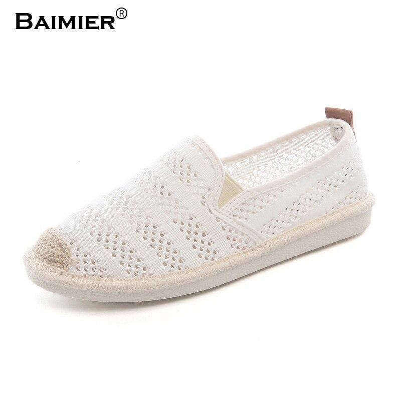 Высокое качество простой Для женщин Летняя обувь Модная обувь на плоской подошве обувь из сетчатого материала женские Grils воздухопроницаем...