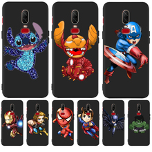 Luxury Avengers Marvel Stitch Custom For One plus 5 5T 7 Pro Oneplus 6 6T phone Case Cover Funda Coque Etui Spider-Man Iron Man