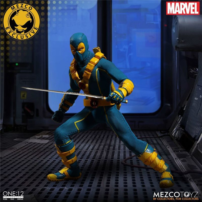 16cm Marvel Mezco Toys Super Hero Deadpool X-Men Red Blue Version One 12  Action Figure   (12)