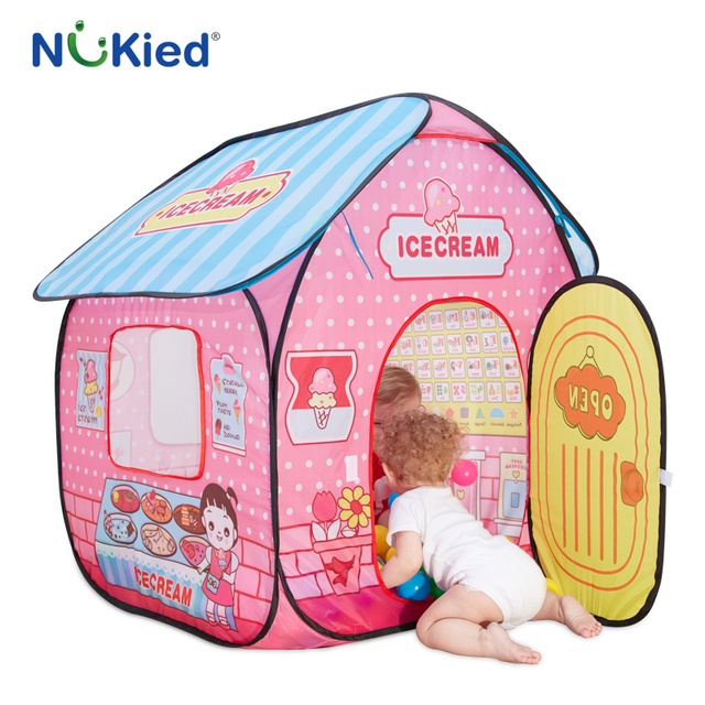 NUKied Girl Ice Cream House Portable Play Tents Outdoor Garden Folding Toy Tent Pop Up Kids  sc 1 st  AliExpress.com & NUKied Girl Ice Cream House Portable Play Tents Outdoor Garden ...