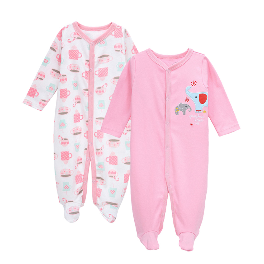 100% Quality Tender Babies 2pcs/set Newborn Baby Clothes Romper Infantil Jacquard Jumpsuit Mamelucos Para Bebe Longsleeve Cotton Sleepwear