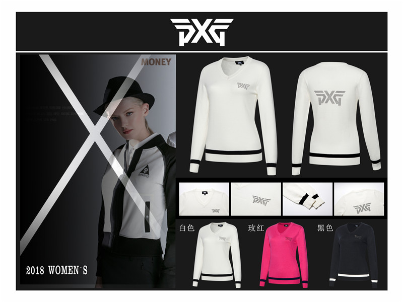 Women 's PXG winter golf training sweater warm clothing long-sleeved T-shirt 3 color S-XL golf sweater 2017 new golf shirts sport tops clothing golf shirt long sleeved men s clothing summer fast dry free shipping