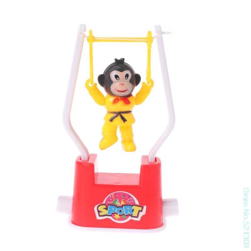 Yenilik maymun hayvan sanatsal jimnastik oyuncak karikatür kurmalı oyuncak çocuk oyuncak