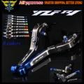 Laser Logo(YZF R1) Blue+Titanium 8 Colors CNC Folding Motorcycle Brake Clutch Levers For Yamaha YZF R1 2004 2005 2006 2007 2008
