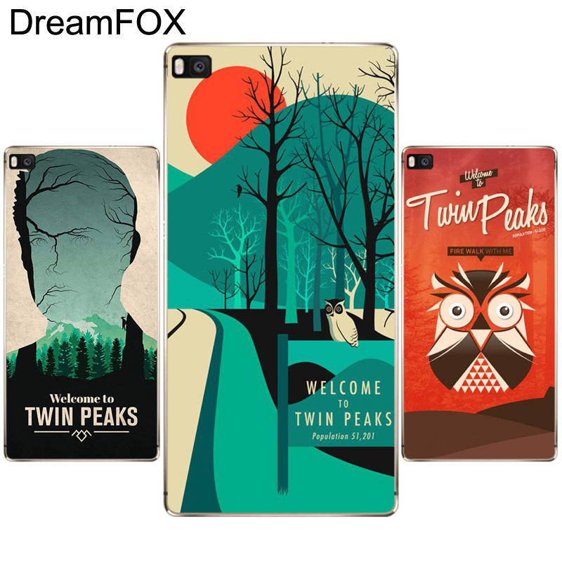 DREAMFOX L406 Welcome To Twin Peaks Soft TPU Silicone Case Cover For Huawei P8 P9 P10 Lite Plus 2017 Honor 8 Lite Pro 9 6X
