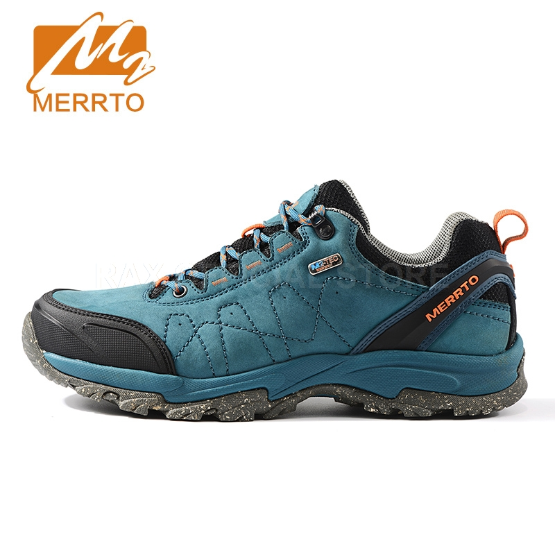 Merrto Men Women Hiking Shoes Genuine Leather Hiking Boots Trekking Shoes Sneakers For Men Women Hiking Boots Men Mountain Shoes tba genuine leather hiking shoes for women men lovers outdoor sport shoes man brand high top ankle boots women s men s sneakers