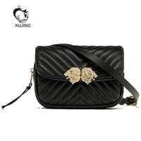 KUJING Women Handbags Quality Brand PU Women Bag Multi Functional Luxury Women Shoulder Messenger Bag Fashion