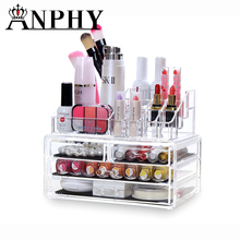 Home Storage Container 3 Drawers Acrylic Makeup Organizer Lipstick Nail Polish Clear Plastic Cosmetic Storage Box