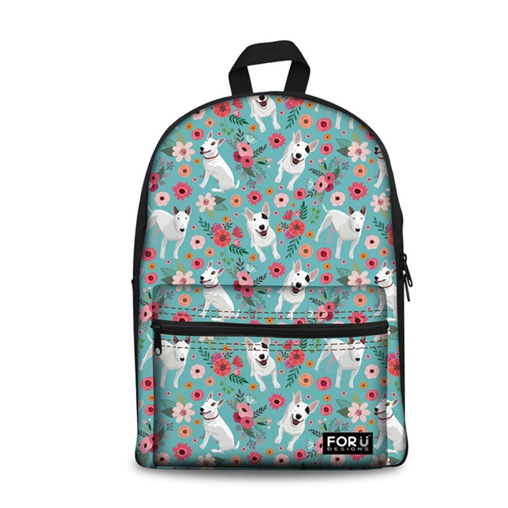 Animal Rucksack Cat Dog Print Schoolbag Teens Boy/'s Backpack Cowboy Satchel Blue