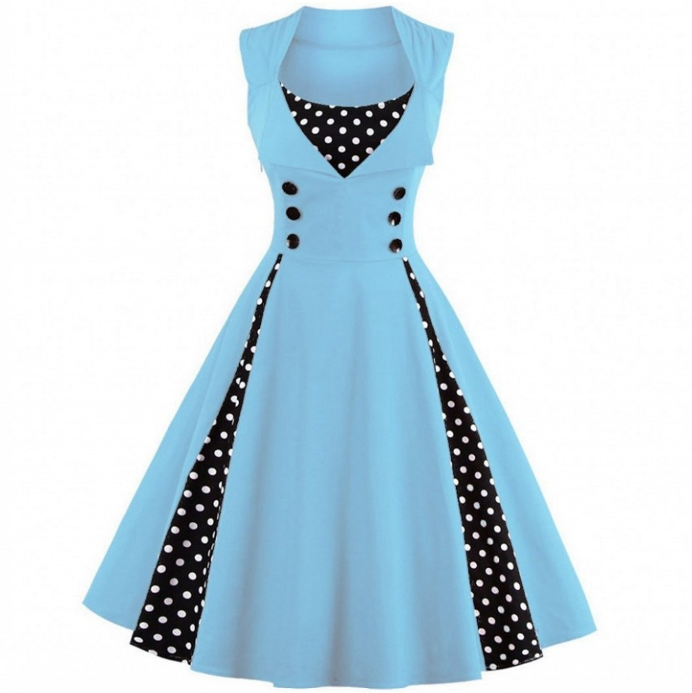 S 5XL Women Robe Pin Up Dress Retro 2018 Vintage 50s 60s Rockabilly ...