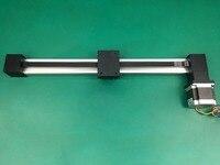 Зубчатый ремень линейный XP 200 мм ход Таблица направляющей слайд ремня линейный слайд стол + NEMA 23 шаговый двигатель