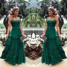 Green Elegant Party Dress Summer Woman Ruffle Elegant Chiffon Dress Sleeveless Spaghetti Strap Ladies Long Dresses For Women цена и фото