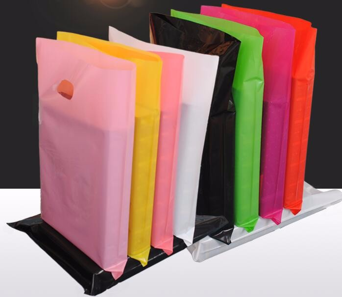 Small jewerly gift plastic bags with handle logo,Small